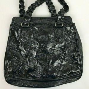 Elliott Lucca Shiny Black Pebble Cow Leather Bag